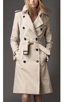 Burberry Long Cotton Trench Coat - Lyst