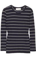 A.L.C. Travis Striped Cotton-jersey Top