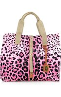 Dolce & Gabbana Animal-Print Cotton-Canvas Tote