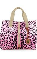 Dolce & Gabbana Animal-Print Cotton-Canvas Tote - Lyst