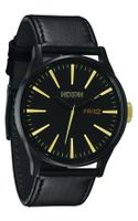 Nixon The Sentry Leather Strap Watch
