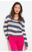 Splendid Cable Stripe Sweater