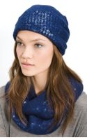 Tarnish Sequin Slouchy Cap