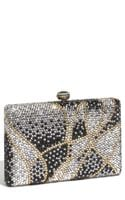Natasha Couture Large Square Rhinestone Clutch