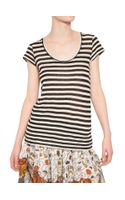 Proenza Schouler Striped Cotton Jersey T-shirt - Lyst