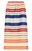 Stella McCartney Deckchairstriped Twill and Sateen Skirt