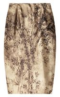 Valentino Printed Silk-blend Pencil Skirt