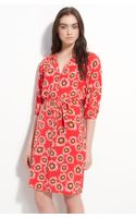 Tucker Smocked Printed Silk Shirtdress - Lyst