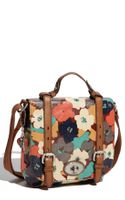Fossil Key-Per Coated Canvas Satchel