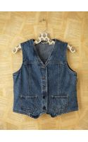 Free People Vintage Denim Vest