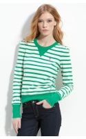 Juicy Couture Stripe Monogram Sweatshirt - Lyst
