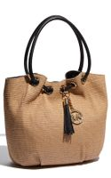 Michael by Michael Kors Straw Ring Tote - Lyst