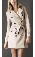 Burberry Short Gabardine Trench Coat