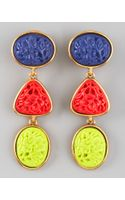 Oscar de la Renta Carved Cabochon Earrings - Lyst