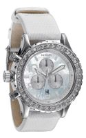 Nixon The 42-20 Chrono Crystal Bezel Snakeskin Strap Watch