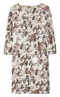 Emma Cook Sequin-print Cotton and Silk-blend Shift Dress
