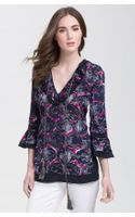 Tory Burch Gwenna Printed Sheer Tunic - Lyst