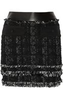 Antonio Berardi Fringed Tweed Skirt