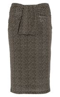 Burberry Raffia-print Stretch-jersey Pencil Skirt