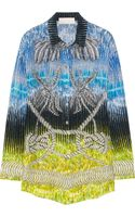 Peter Pilotto Rope-print Silk Blouse
