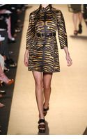 Michael Kors Tiger-Print Cotton-Satin Trench Coat
