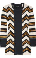 Burberry Prorsum Striped Knitted Cotton and Silk-blend Sweater
