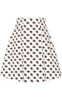 Miu Miu Printed Cotton A-line Skirt