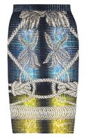 Peter Pilotto Printed Stretch-jersey Pencil Skirt