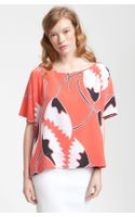 Diane Von Furstenberg New Hanky Printed Silk Top