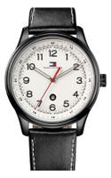 Tommy Hilfiger Round Dial Leather Strap Watch - Lyst