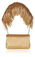 Christian Louboutin Artemis Fringed Texturedleather Shoulder Bag