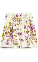 D&G Floralprint Silk Shorts
