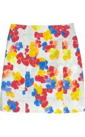 Erdem Adele Printed Stretchcotton Mini Skirt - Lyst