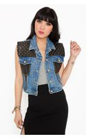 Nasty Gal Total Stud Denim Vest