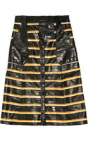 Proenza Schouler Striped Eel Skirt