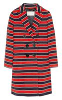 J.Crew Gondola Striped Stretchwool Coat