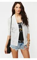 Nasty Gal Chiffon Back Blazer White