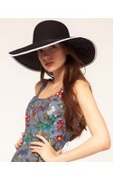ASOS Collection Asos Straw Floppy Hat with Polka Dot Underbrim