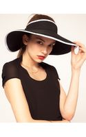 ASOS Collection Asos Wide Brim Straw Visor