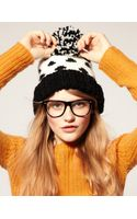 ASOS Collection Asos Spot Pom Beanie
