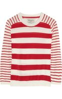 Aubin & Wills Dumbleton Striped Fineknit Cotton Sweater