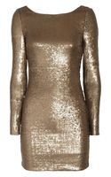Haute Hippie Sequined Stretchsilk Dress - Lyst