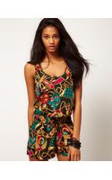 ASOS Collection Asos Playsuit in Chain Print