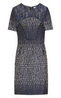 Matthew Williamson Patchwork Jacquard Shift Dress