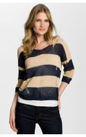 BCBGMAXAZRIA Drop Stitch Stripe Sweater