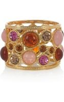 Kenneth Jay Lane 22karat Goldplated Crystal Cuff