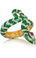 Kenneth Jay Lane 22karat Gold-Plated Crystal Snake Bracelet