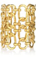 Kenneth Jay Lane 22karat Goldplated Linked Chain Cuff - Lyst