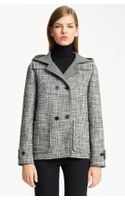 Jil Sander Hooded Wool Blend Coat