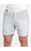 Scotch & Soda Nautical Striped Cotton Shorts - Lyst
